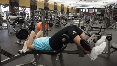 Incline Bench Crunches Exercise Technique Definition